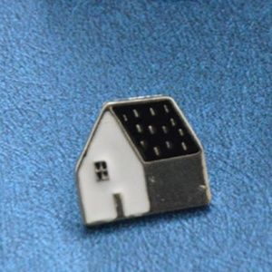 5/$24 Black and White House Pin Brooch